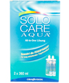 Menicon - SoloCare Aqua 3 Monatspack - All-In-One - Weiche Kontaktlinsen